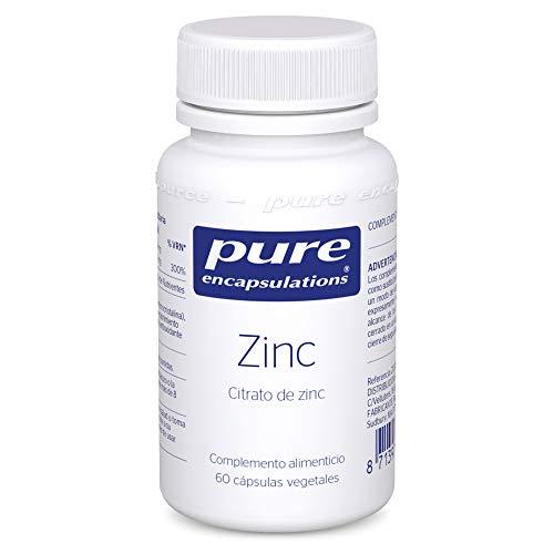 Pure Encapsulations - Zinc (Citrato) 30 mg - Suplemento de Zinc Altamente Biodisponible para el Apoyo Inmunológico y del Metabolismo - 60 Cápsulas Vegetarianas