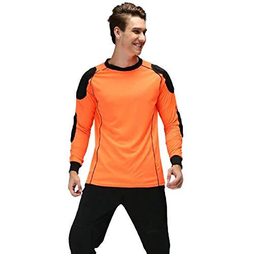 HGYJ Futbol Jersey Goalkeeper,Uniforme de Portero de Fútbol para Adultos y Niños, Pantalón de Manga Larga, Uniforme de Fútbol, Traje Deportivo al Aire Libre,Orange,M