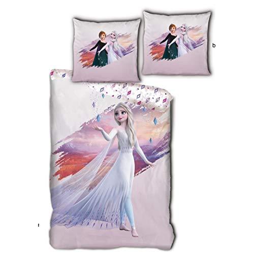Reine des Neiges - Juego de cama (funda nórdica de 1 plaza de algodón)