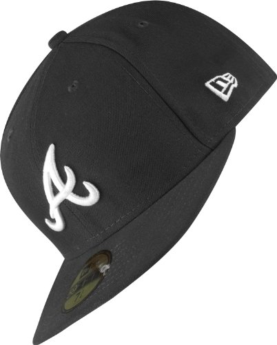 New Era MLB Basic Atlanta Braves 59Fifty Fitted Chapeau Mixte, Noir, 8 inch-63,5cm