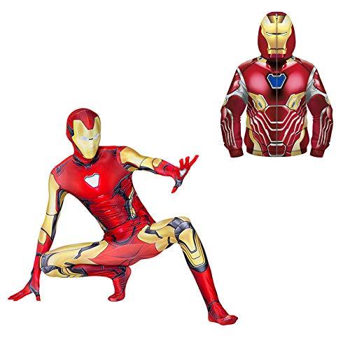XNheadPS Boys Spiderman Trajes Trajes Superhero Sudadera Sudadera Jumpsuit Set 5~6 años Unisex Cosplay Jumpsuit Sudaderas Sudaderas Halloween Carnival Party Onesies,Black-Kid S(105~115cm)