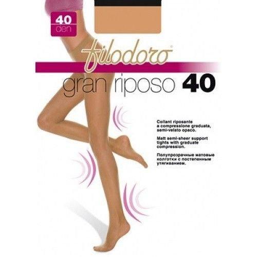 FILODORO 6 Paia Collant Donna RIPOSANTE Compressione Graduata...