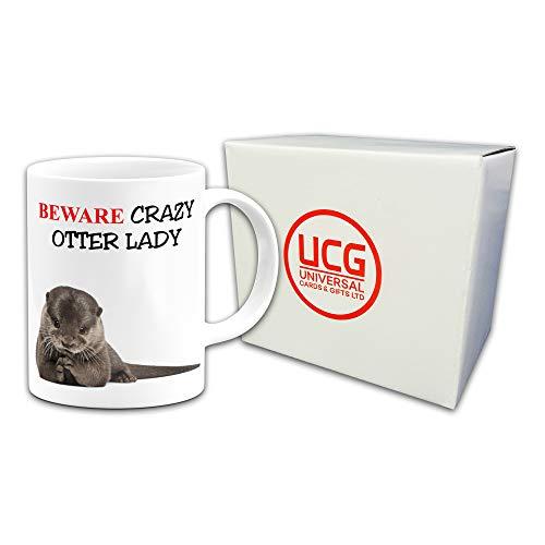 Crazy Otter Man Stars 15oz Large Mug Cup Funny Animal