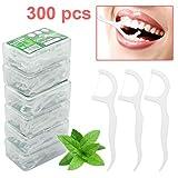 Zahnseide 300 Stk. Dental Floss Zahnseide Sticks Einwegzahnseide Zahnseidenhalter mit