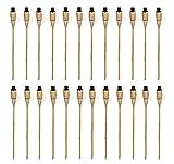 Bambusfackel 60 cm Fackel Gartenfackel Bambus Garten Deko Bambusfackeln Set Öl (12 Stück)