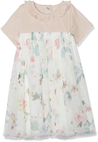 Petit Bateau Barre Robe, Multicolore (Pearl/Multico 01), Nouveau-né (Taille Fabricant: 24 Mois) Bébé Fille