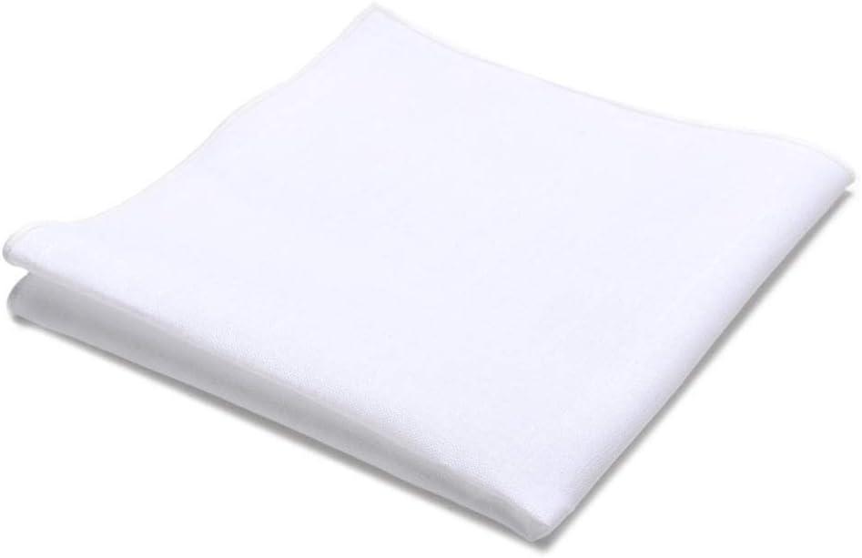 White Cotton Pocket Square Handkerchief with Gift Box