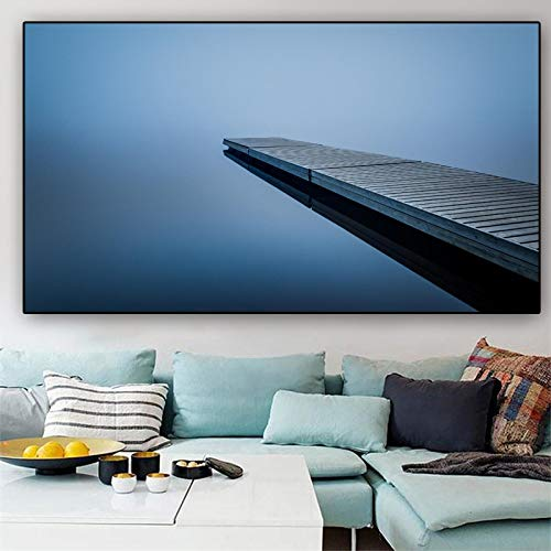 Impresiones artísticas de pared póster lienzo pintura lago puente impresiones y carteles cuadros de pared para sala de estar cuadros decorativos 40x60CM sin marco