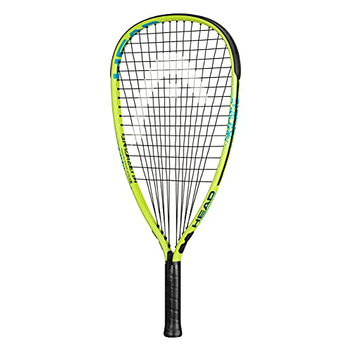 HEAD MX Hurricane Pack - Beginners Pre-Strung Racquetball Racket Set with Goggles & Two Balls