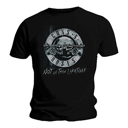 Guns N Roses Offizielles T-Shirt Not in This Lifetime Tour XEROX Bullet Gr. Large, Schwarz
