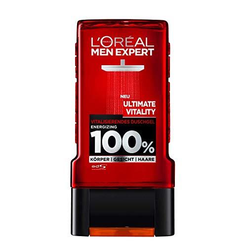 L 'Oréal Men Expert Ultimate Vitality douchegel, wijnstok-extract reinigt en stimuleert de mannenhuid (gezicht, lichaam en haar) zacht zonder uit te drogen, 300 ml parent