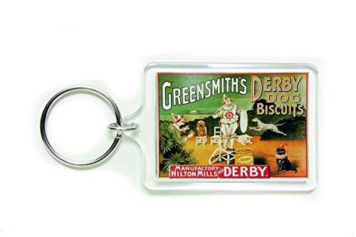 Greensmith's Derby hondenkoekjes acryl sleutelhanger