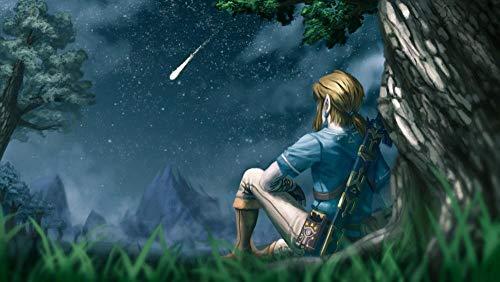 TAIQUANDAO The Legend of Zelda: Breath of The Wild Jigsaw Puzzle 1000 Pezzi per Adulti Bambini, Giocattoli di Intrattenimento, Decorazioni per La Casa, Regalo Personalizza, 75*50Cm