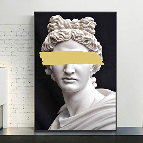 XCJX (40X50CM frameless) DIY 5D diamond painting Vapor wave sculpture made by Apollo The face of Apollo on the wall Home and kitchen/Creative hobby