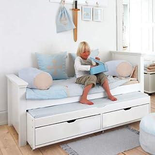 comprar comparacion Alfred & Compagnie - Cuna de 90 x 200 cm con cama nido y cajones