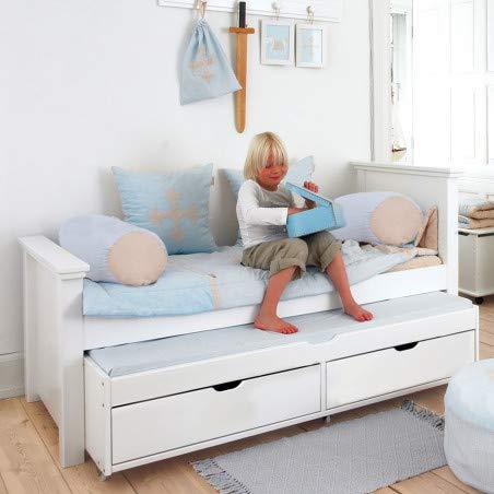 Alfred & Compagnie - Cuna de 90 x 200 cm con cama nido y cajones