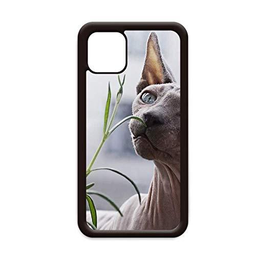 Animal gris delgado gato fotografía para iPhone 12 Pro Max cubierta para Apple mini móvil caso Shell