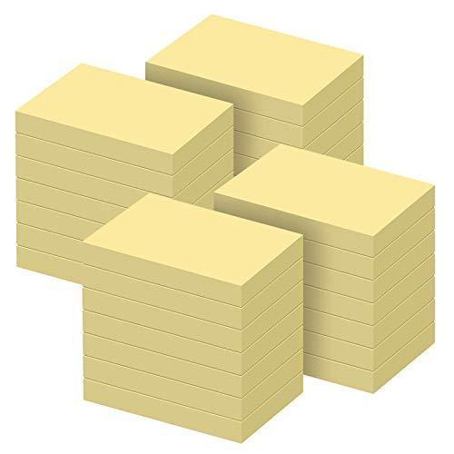 ZCZN Post It 2800 Hojas Post It de 76 x 51 mm, 100 hojas por blocs de notas autoadhesivas, aptas para recordatorios, mensajes, Rappele, color amarillo