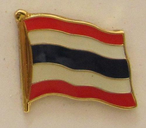 Thailand Pin Anstecker Flagge Fahne Nationalflagge Flaggenpin Badge Button Flaggen Clip Anstecknadel