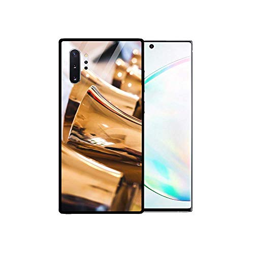 FEDDIY Handbells Stylish Protective Cover for Samsung Galaxy Note 10 Mobile Phone Case, Tempered Glass Back Cover, Soft TPU Scratch-Resistant Frame