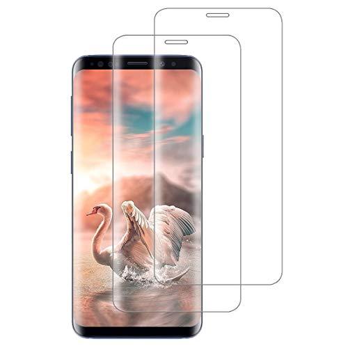 XSWO [2 Pezzi Vetro Temperato Galaxy S9 Plus, Protezione Schermo Samsung Galaxy S9 Plus [3D Copertura Completa] [Durezza 9H] [Senza Bolle] [Facile Installazione] Pellicola Protettiva Vetro S9 Plus