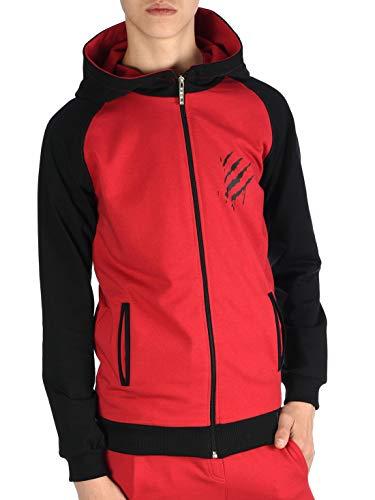 BEZLIT Jungen Kinder Hoodie Kapuzen Pullover Sweat-Shirt Sweater Sweatjacke Pulli YES 30042 Rot 158