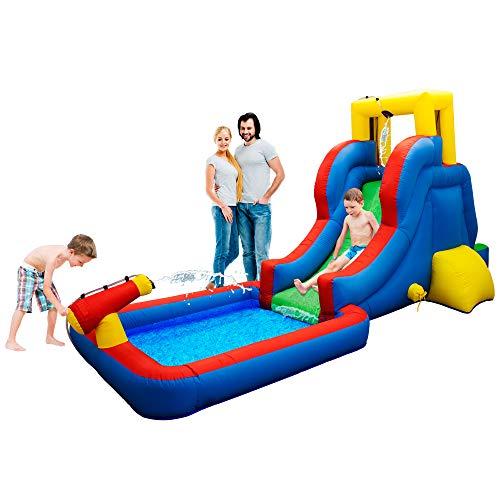 PicassoTiles KC108 Water Slide Park Inflatable Bouncing...