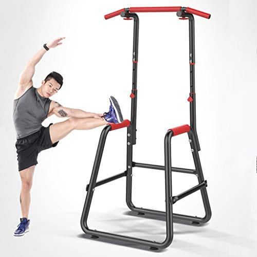 NATIVEUSO Parallel Bars,Adjustable Chin Up Stand Pull Up Bar Dip Power Tower Home Gym Fitness Workout Dip Station Functional Heavy Duty Dip Stands Fitness Workout Dip Bar Station