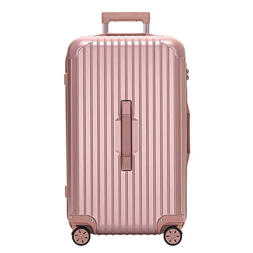 Thicken Luggage, ABS Sturdy Durable Lightweight Large Capacity with Spinner Wheels Suitcase for Tourism Vacation Storage-38x32x62cm-Rose Gold