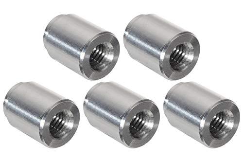ICT Billet 5pc Aluminum M8-1.25mm Weld On Bung Female Nut Threaded Insert Weldable Metric 8mm 14.5mm (.57
