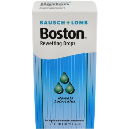 Bausch+Lomb Rewetting Drops for Rigid Gas Permeable Contact Lenses, 1/3-Ounce Bottles (Pack of 3)