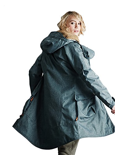 Finside W Oona Ice Grün, Damen Freizeitjacke, Größe 42 - Farbe Spruce Melange