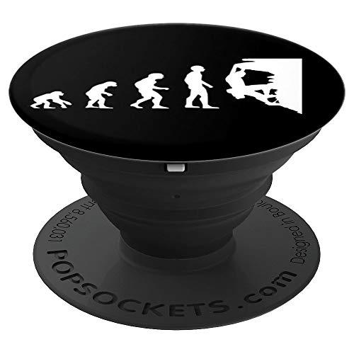 Kletterer Evolution Klettern Bouldern - PopSockets Ausziehbarer Sockel und Griff für Smartphones und Tablets