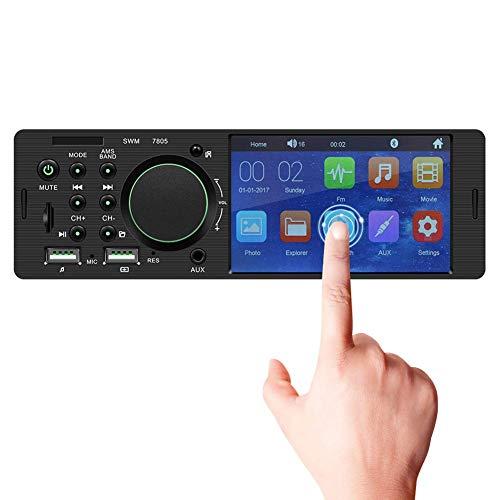Alondy 1 Din Autoradio MP5 Stéréo Lecteur Écran Tactile 4,1 Pouces Double USB/Bluetooth/AUX/SD/FM
