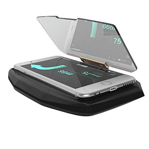 lzndeal Support de voiture pour GPS avec angle de vision mobile et support pour écran de projection