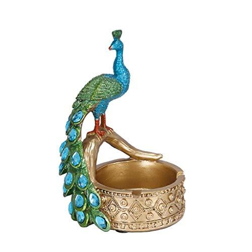 Cenicero a prueba de viento, cenicero de pavo real adornos personalizados para decoración casero sala de estar dorada cenicero de escritorio cenicero enviado a familiares y amigos cenicero para fumado