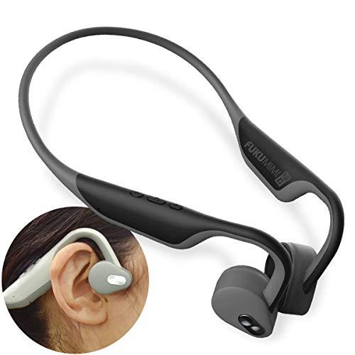 JTT Online 骨伝導 集音器 ヘッドホン Bluetooth 5.0 防水防塵 スポーツイヤホン ノイズ低減 USB急速充電 超軽量 自動ペアリング 集音機能付 福耳ボーンヘッドフォン(ブラック)USBFUKUMIBHBK