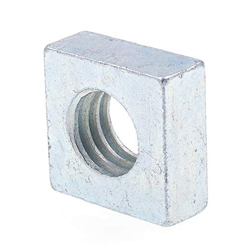 Prime-Line 9192657 Square Nuts, 3/8 in-16, Zinc Plated Steel, 25-Pack