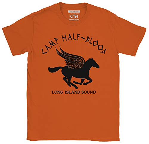 Camp halb Blood T-Shirt - Orange, Small