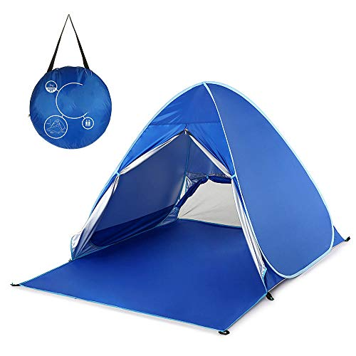WBHMVMZ Beach Tent Waterproof Automatic Instant Pop Up Camping Tent UV Protection Lightweight Summer Tent Foldable Outdoor Sun Shelter for Garden Beach-Royal_Blue