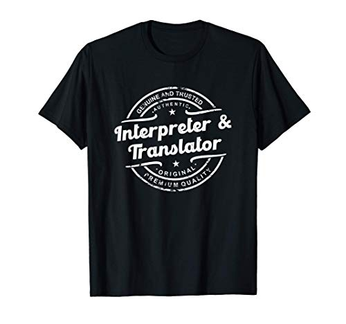 Interpreter, Translator vintage stamp retro distressed logo T-Shirt