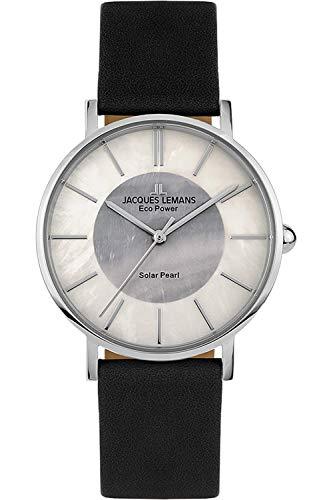 Jacques Lemans Damen Analog Quarz Uhr mit Leder Armband 1-2112A