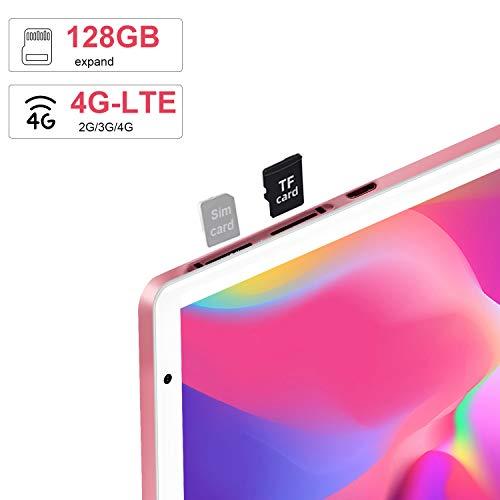 4G Tablette Tactile 10.1 Pouces Android 10.0 Certifié par Google GMS DUODUOGO G20 Tablette Pas Cher 4Go RAM 64Go ROM/Extensible à 128 Go Tablette PC 8000mAh Double Caméra/SIM NETFILX GPS WiFi (Or)