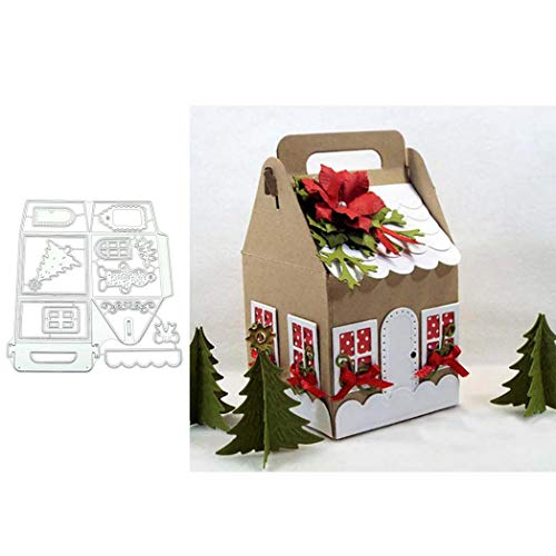 KimcHisxXv - Fustella a forma di casetta di Natale, per scrapbooking e scrapbooking