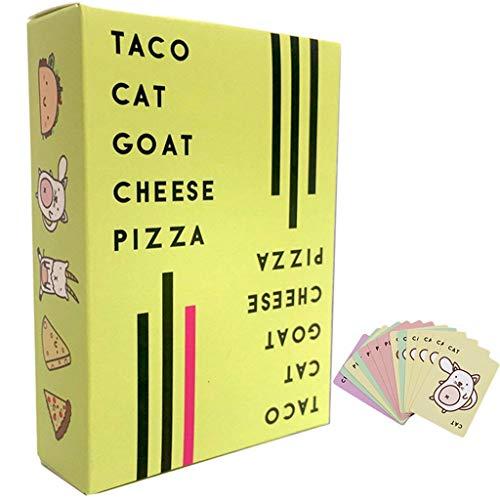 YANGCHENG Taco Goat Queso Pizza, Un Emocionante Juego De Cartas, Un Divertido Y Divertido Juego Familiar con Amigos Y Familiares