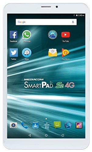 "Mediacom SmartPad S2 Tablet PC, Display da 8"" IPS, Memoria Interna da 16 GB Processore MT8735P Quad Core, 1.3 GHz"