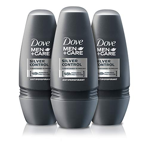 Dove Men und Care Deo Roll-on Silver Control, 3er Pack (3 x 50 ml)