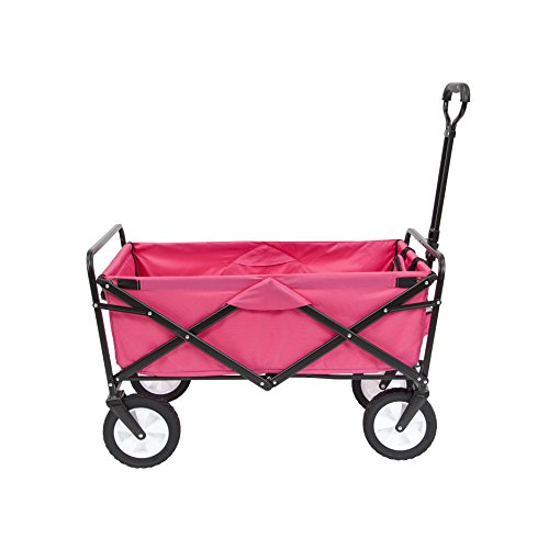 Mac Sports Collapsible Folding Outdoor Utility Wagon, Pink