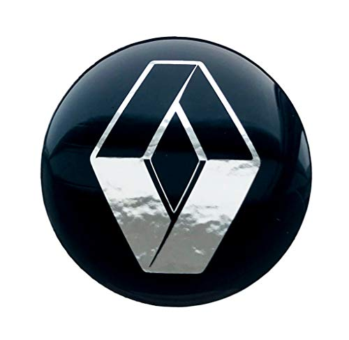 LogoEmbl Aufkleber 4 x 55 mm embleme kompatibel mit Renault radkappen nabenkappen nabendeckel Silikon