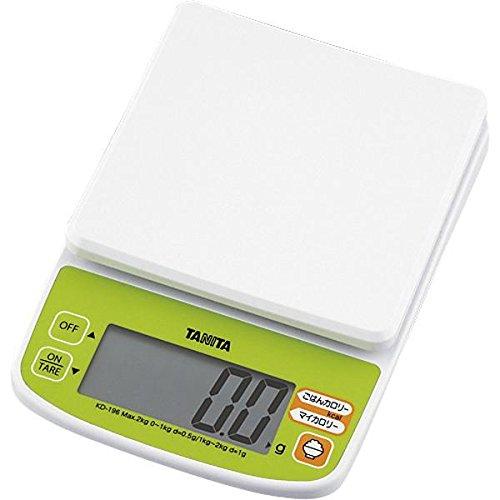 タニタ(TANITA)デジタルクッキングスケール 2kg KD-196 グリーン